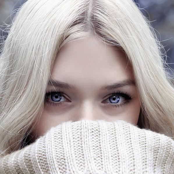 Bleke håret blondt