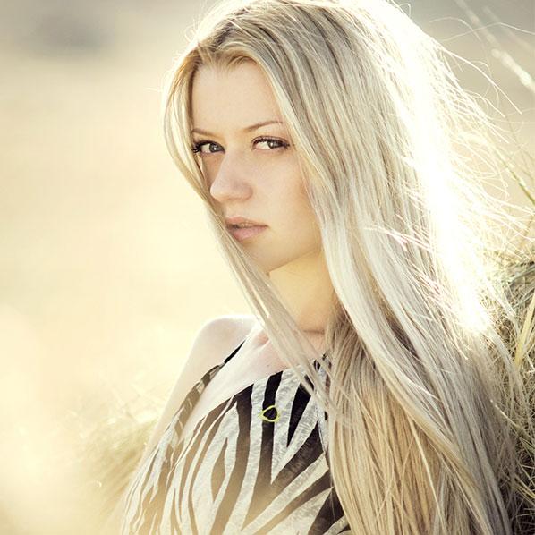 Bleke håret modell