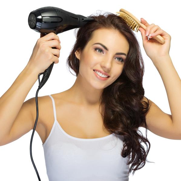 hvordan børste håret