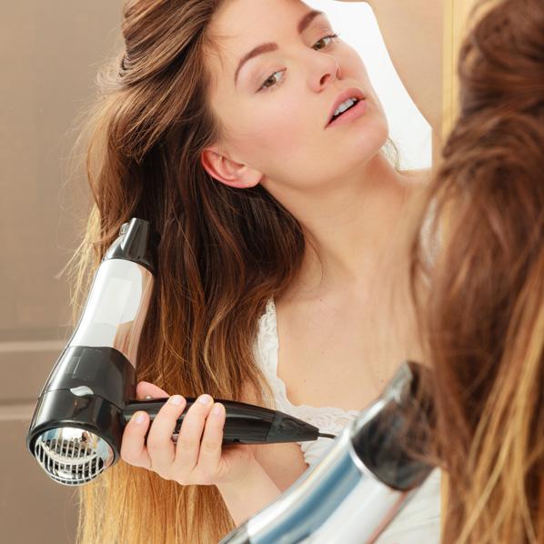 Hvordan føne håret riktig