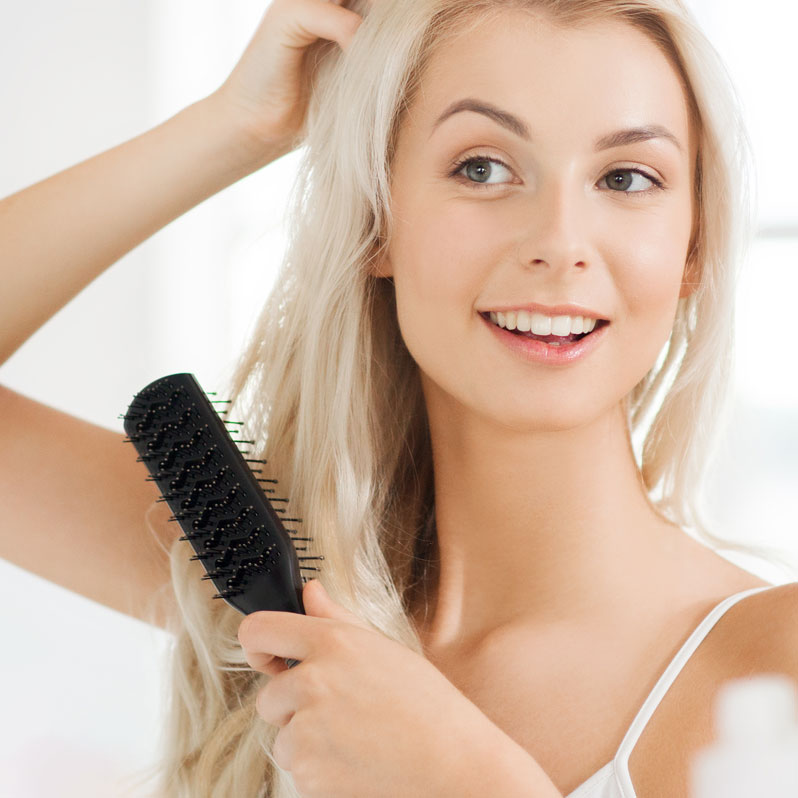 shampoo og styling modell