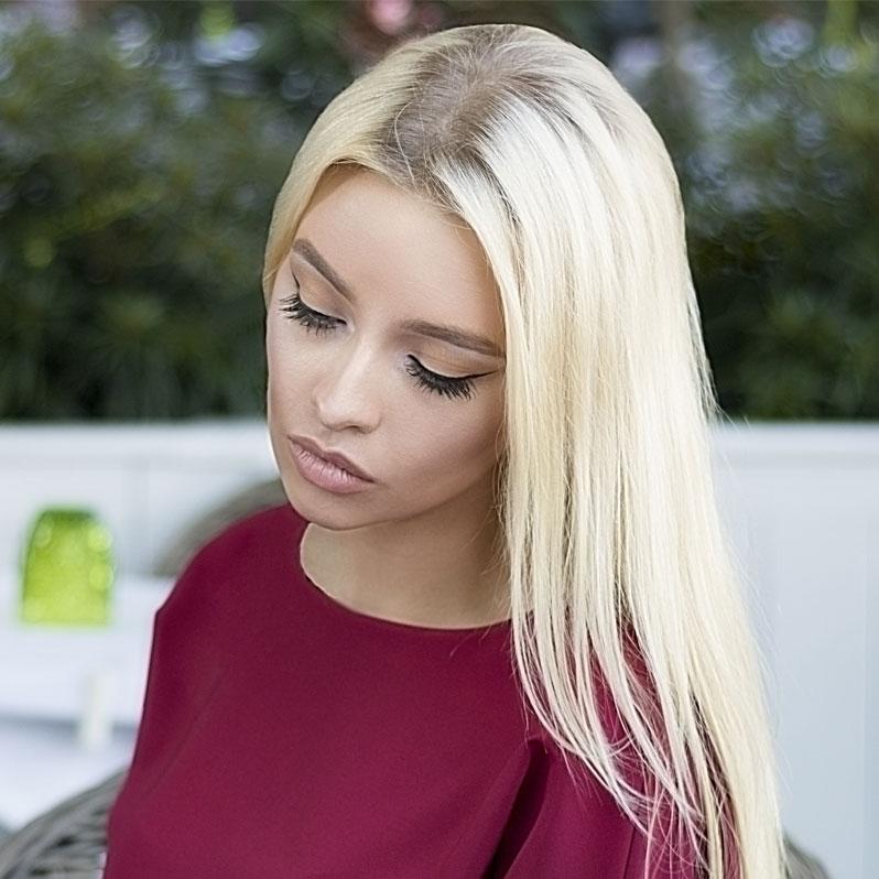 vakkert blondt hår modell