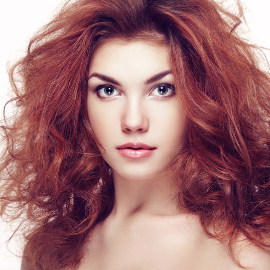 Rødt hår farge modell