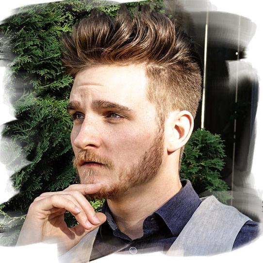 Stripe håret menn